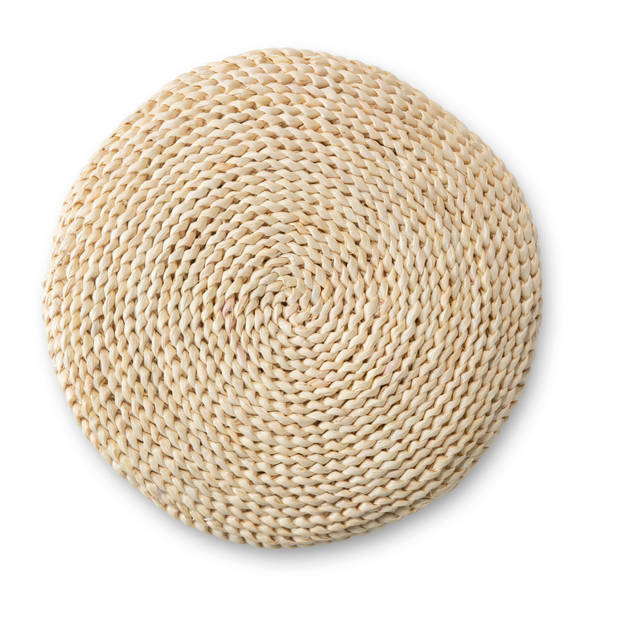 Blokker sierkussen - bamboe - ø40x10 cm
