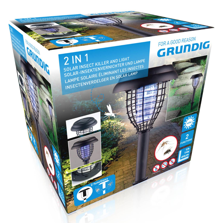 Korting Grundig 2 In 1 Solar Light En Insect Killer