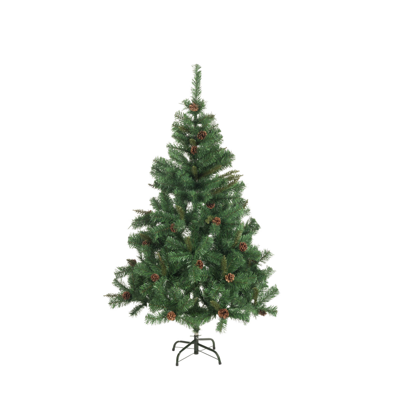 Kunstkerstboom spar 210cm 980tips met dennenappels