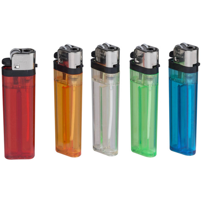 Korting 6x Gekleurde Aanstekers 9 Cm Sigaretten Voordelige Aanstekers Setje Wegwerp Aanstekers