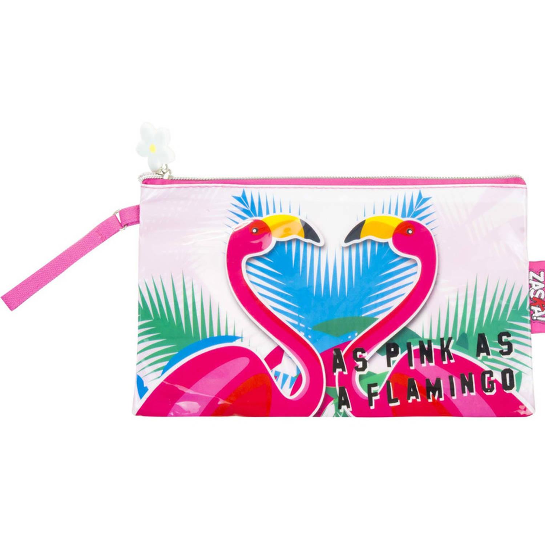 Korting Multifunctionele Toilettas Flamingo 24 Cm Voor Kinderen Reis Toilettassen make up Etui Handbagage