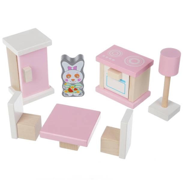 Cubika houten poppenhuismeubels - keuken