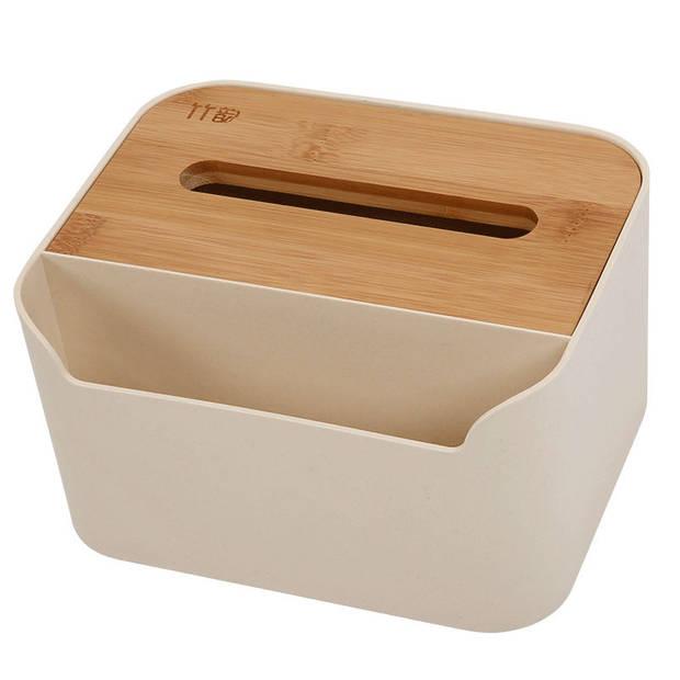 Tissue box met Opbergvak - Tissuehouder voor tissues - Tissuedoos met