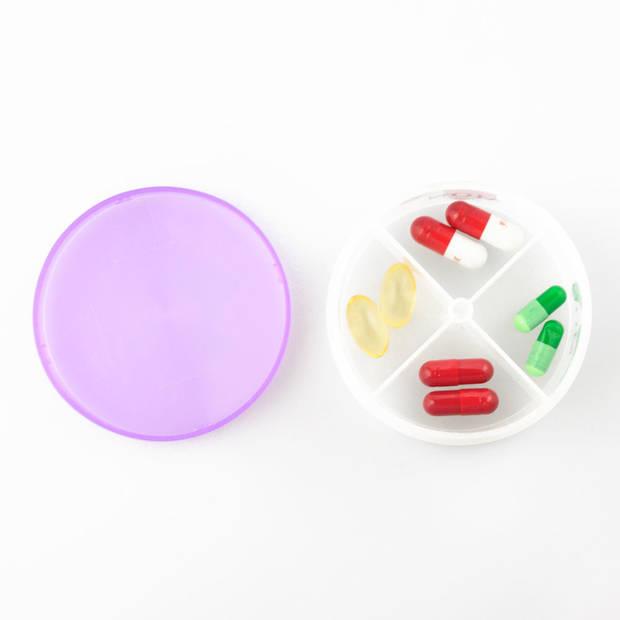 RONDE XL Pillendoos / Medicijn Box met 28 Vakjes voor 4 Dagdelen -