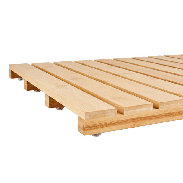 Bamboe badmat voor douche of bad - Houten douchemat / badkamermat