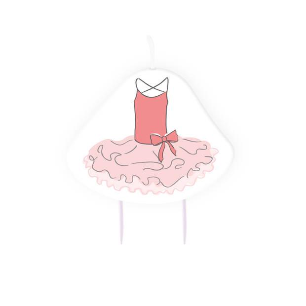 Amscan verjaardagskaars ballerina meisjes 9 cm wax wit