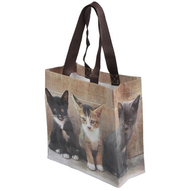 Esschert Design boodschappentas Kittens 5,7 liter polyester mt S