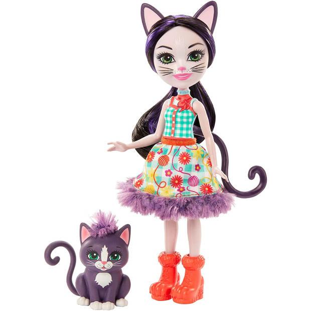 Mattel speelset Enchantimals Ciesta Kat meisjes 15 cm 2-delig