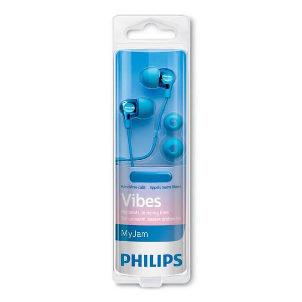 Philips Oordopjes SHE3705LB/00 - Heldere Sound - Diepe Bas - Microfoon - Blauw