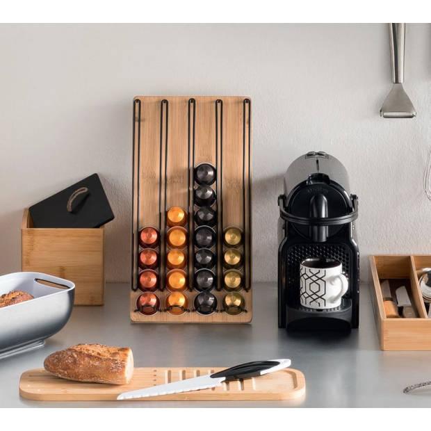 4goodz bamboe Capsulehouder voor Nespresso of soortgelijk - 18x5x35cm