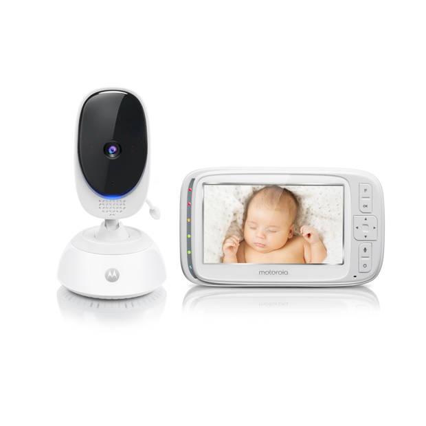 """Motorola Comfort75 babymonitor - 5"""" kleurenscherm - terugspreekfunctie - weergave kamertemperatuur"""
