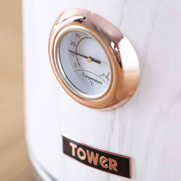 Tower Retro Waterkoker 1.7 Liter Bottega Rose Gold Marmer