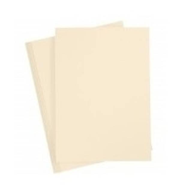 5 stuks karton knutselvel beige - Hobby papier - Hobbymaterialen