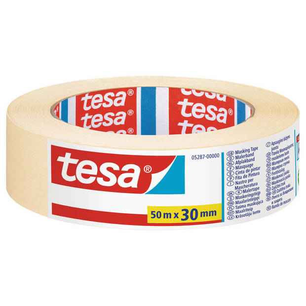 Afplaktape/schilderstape 30 mm x 50 m - Verf afplakband/tape - Maskeertape - Tesa Masking tape