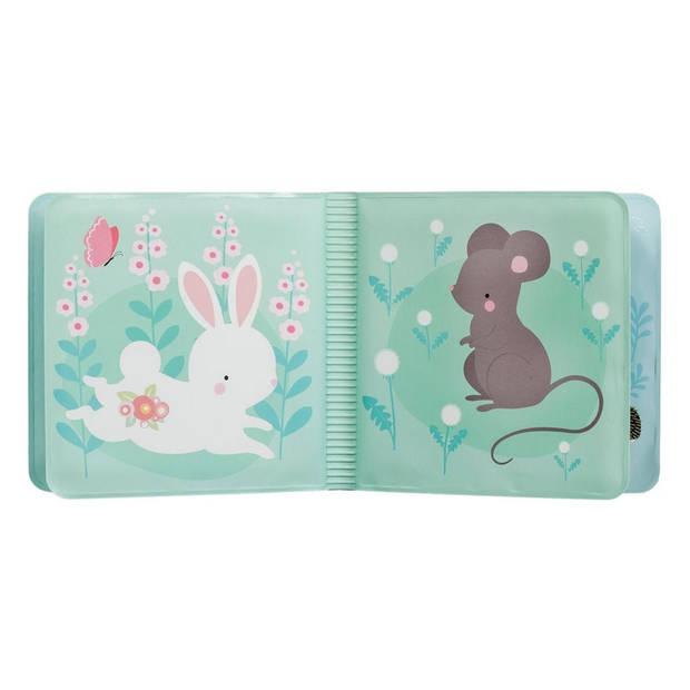 A Little Lovely Company badboekje Forest Friends 12 cm foam blauw/geel