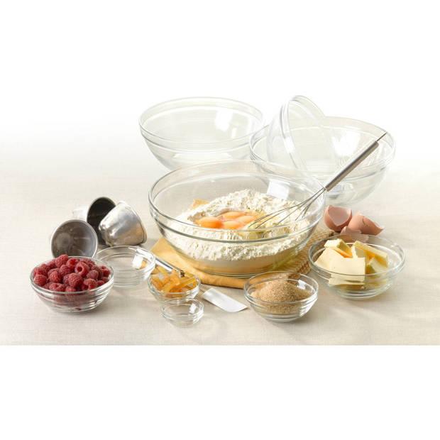 10x Kleine serveer/dessertschaaltjes rond van glas 12 x 4.9 cm - Schalen en kommen - Keuken accessoires