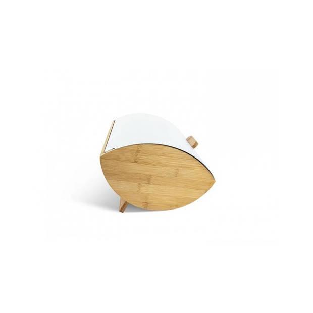 Edënbërg White Line - Luxe Broodtrommel - Vershouddoos - Bamboe/RVS