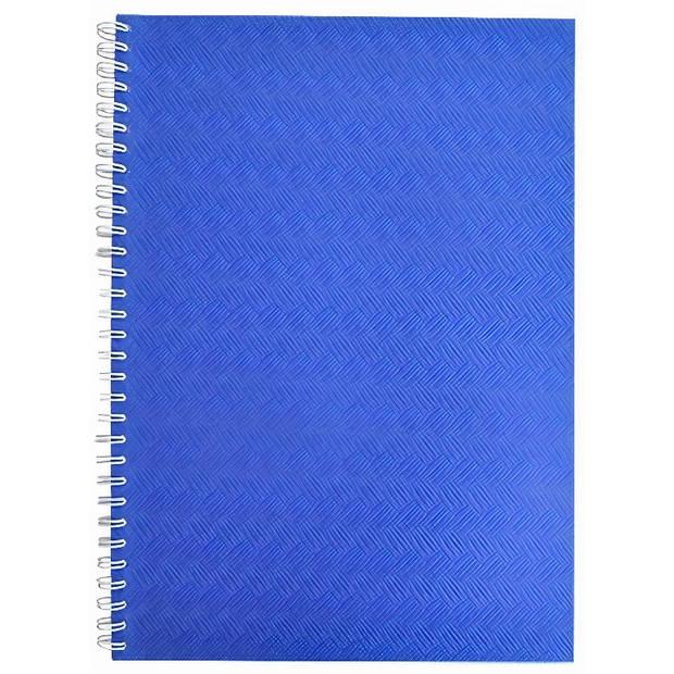 Verhaak fotoplakboek A4 23 x 33 cm karton/pergamijn blauw