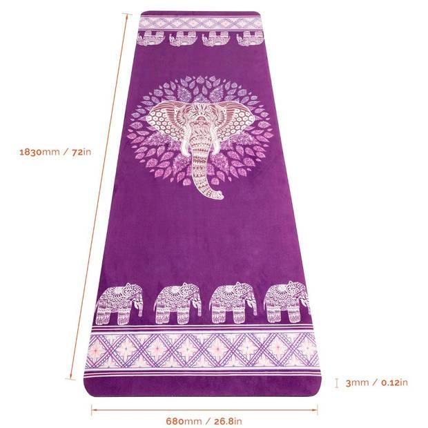 JAP Sports Antislip Yogamat - 1830x680x 3mm - Elephant