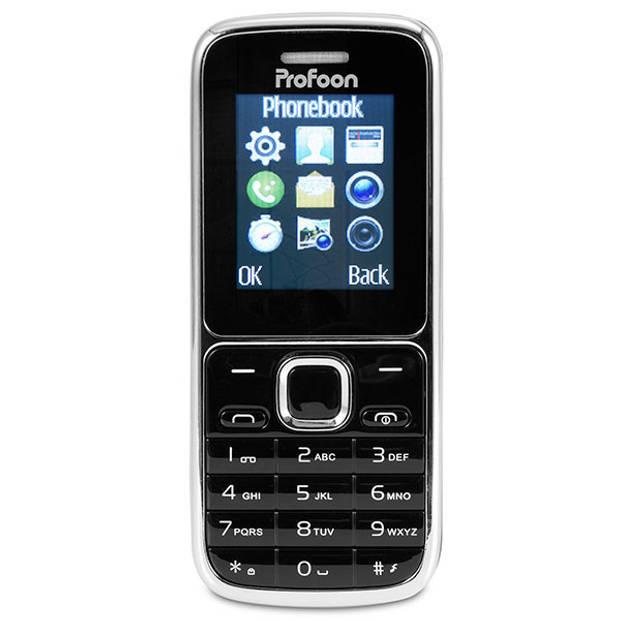 Profoon PM-25 Eenvoudige mobiele telefoon, zwart