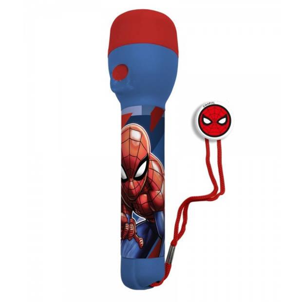 Marvel led-zaklamp Spider-Man 11 x 21 cm ABS rood/blauw