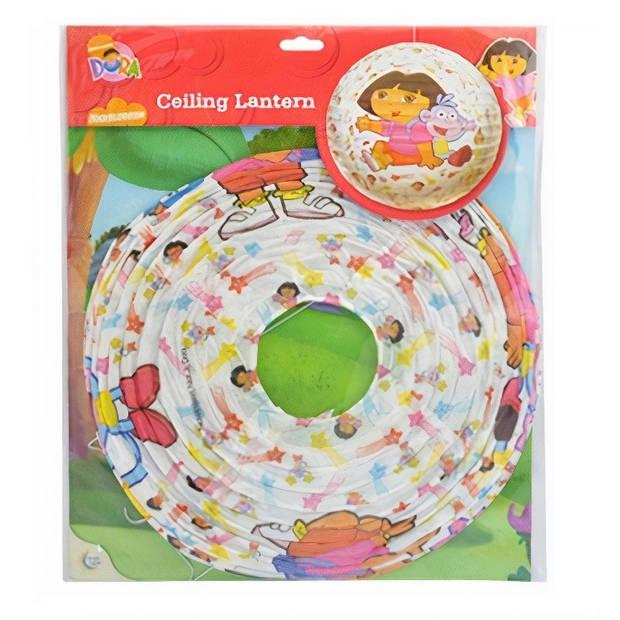 Nickelodeon lampion Dora meisjes papier 26 cm