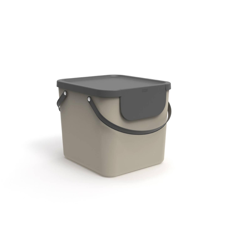 Rotho Albula Afvalbak 40 Liter Cappuccino