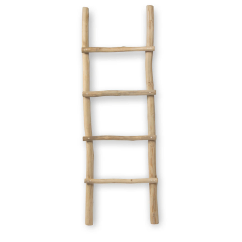 Blokker Decoratie Ladder Teakhout 50x150cm Blokker