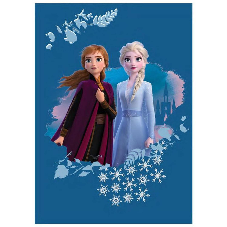 Korting Disney Deken Frozen Meisjes 100 X 140 Cm Fleece Blauw