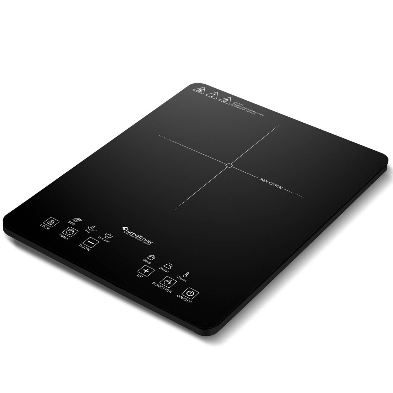 TurboTronic TT-IC1 1 pits vrijstaande inductie kookplaat 2000W