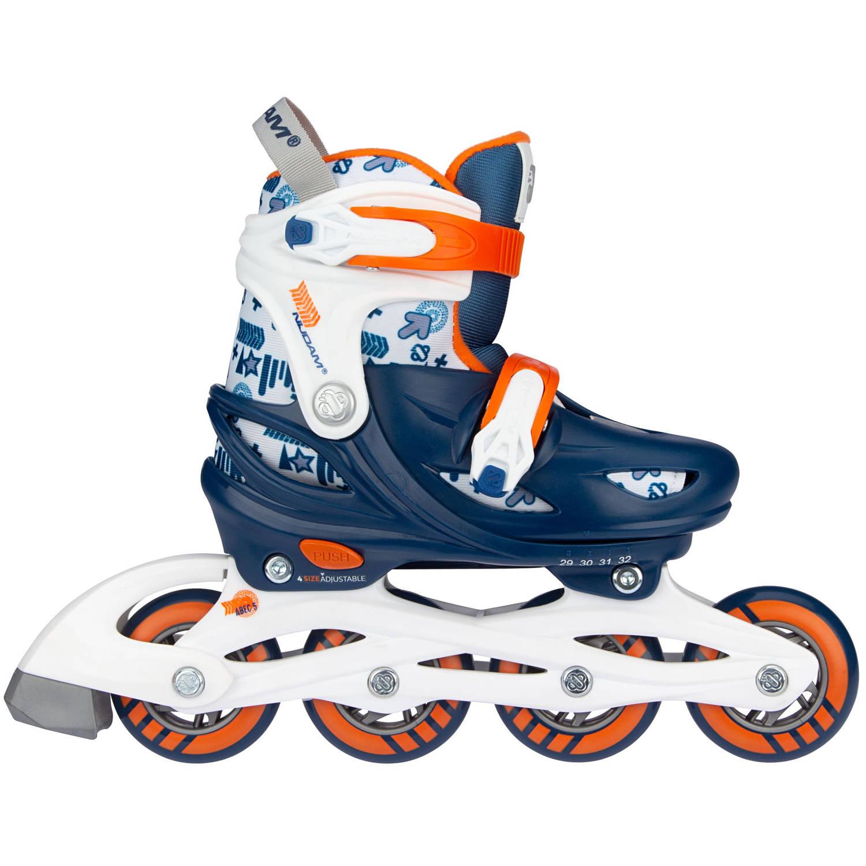 Nijdam skates Traffic Racer junior polyester blauw-oranje-wit mt 29-32