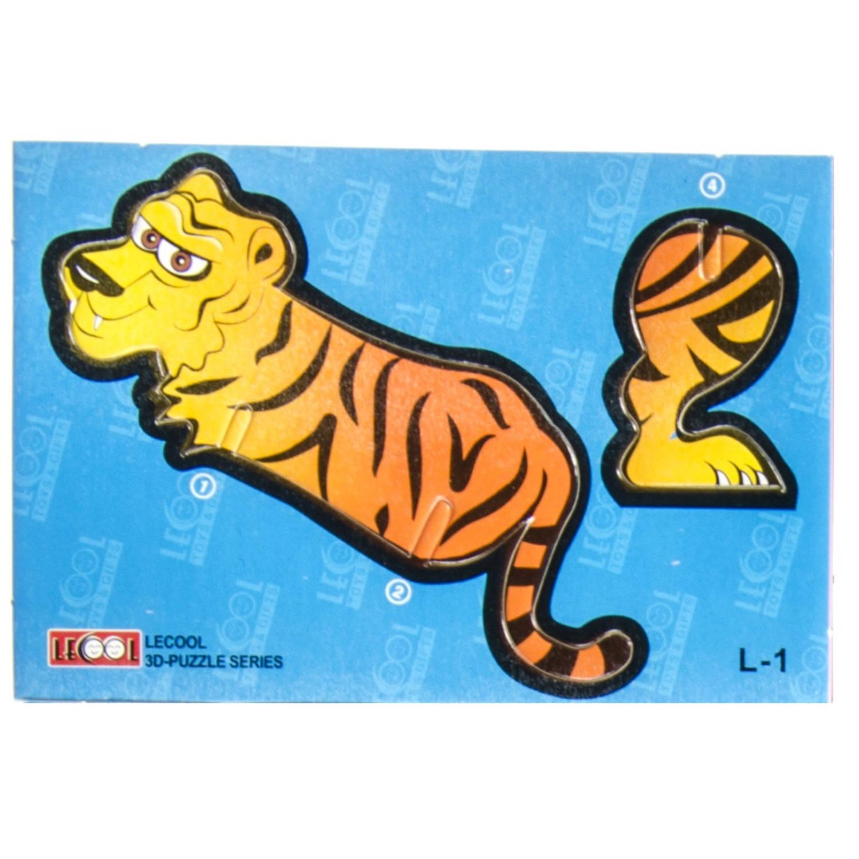 Korting Lg imports 3d puzzel Tijger 10,5 Cm Karton Oranje 7 Stukjes