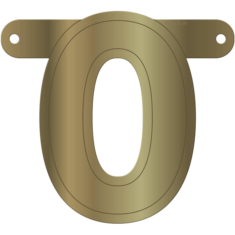 Korting Folat Letterslinger O 12,5 X 11 Cm Karton Goud