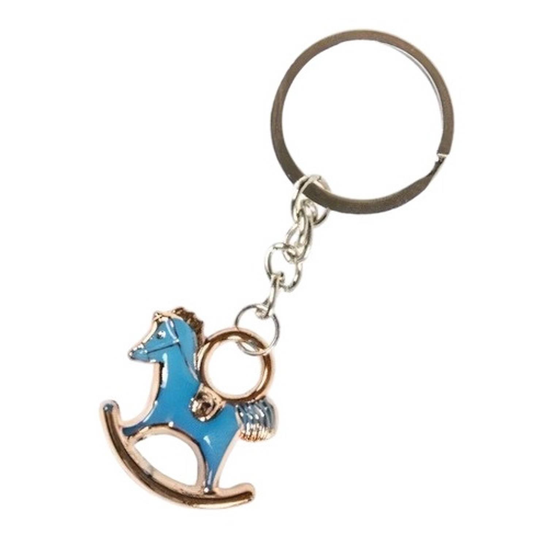 Korting Lg imports Sleutelhanger Schommelpaard 2,5 X 3 Cm Staal Blauw