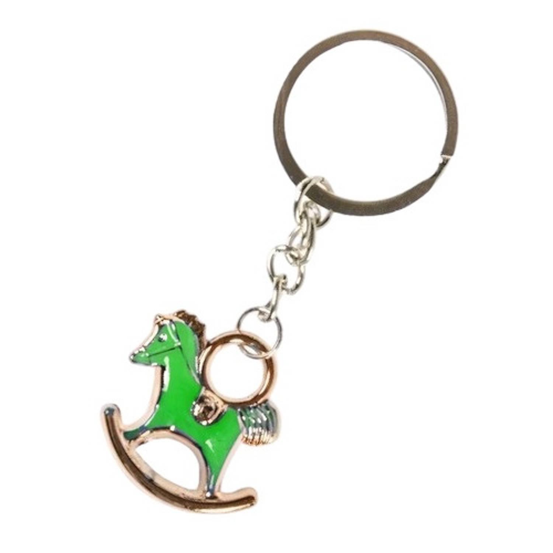 Korting Lg imports Sleutelhanger Schommelpaard 2,5 X 3 Cm Staal Groen