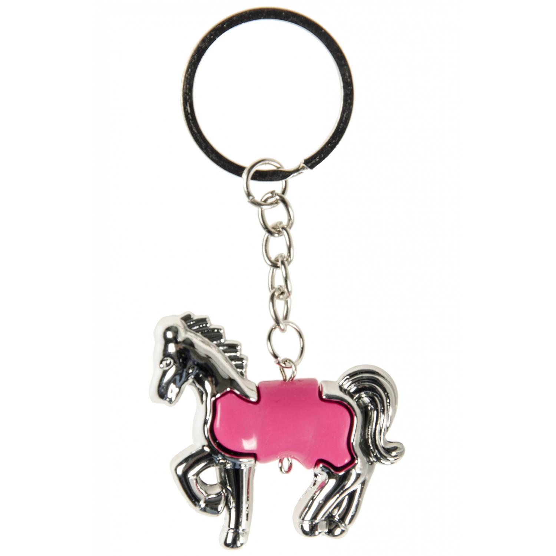 Korting Lg imports Sleutelhanger Paard Junior 5 Cm Zilver fuchsia