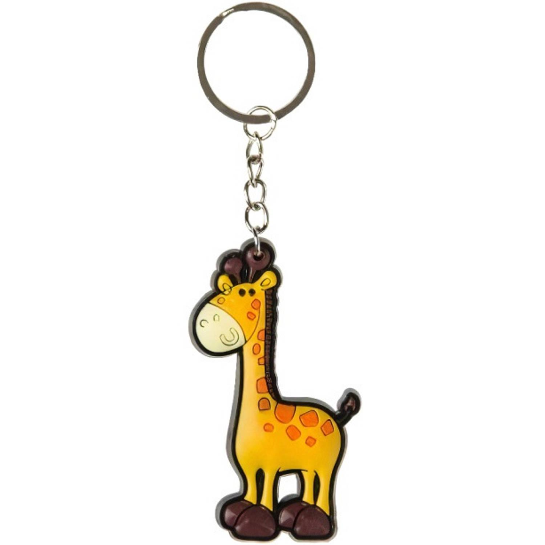 Korting Lg imports Sleutelhanger Giraffe 7 X 4 Cm Bruin oranje