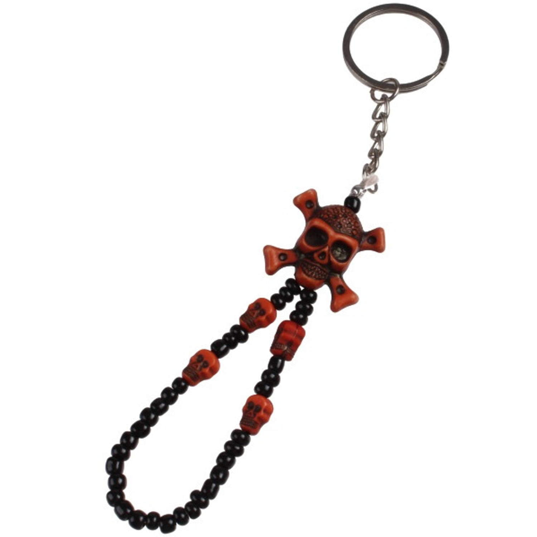 Korting Lg imports Sleutelhanger Doodskop 8 Cm Zwart bruin