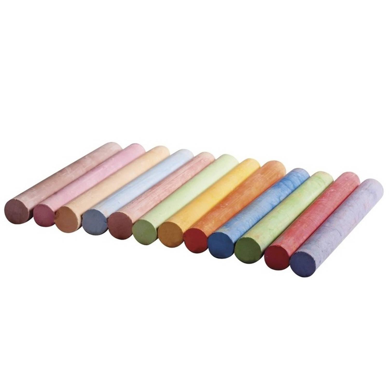 Korting Schoolbord Krijt Gekleurd 12 Stuks Kinder Krijtjes In Alle Kleuren