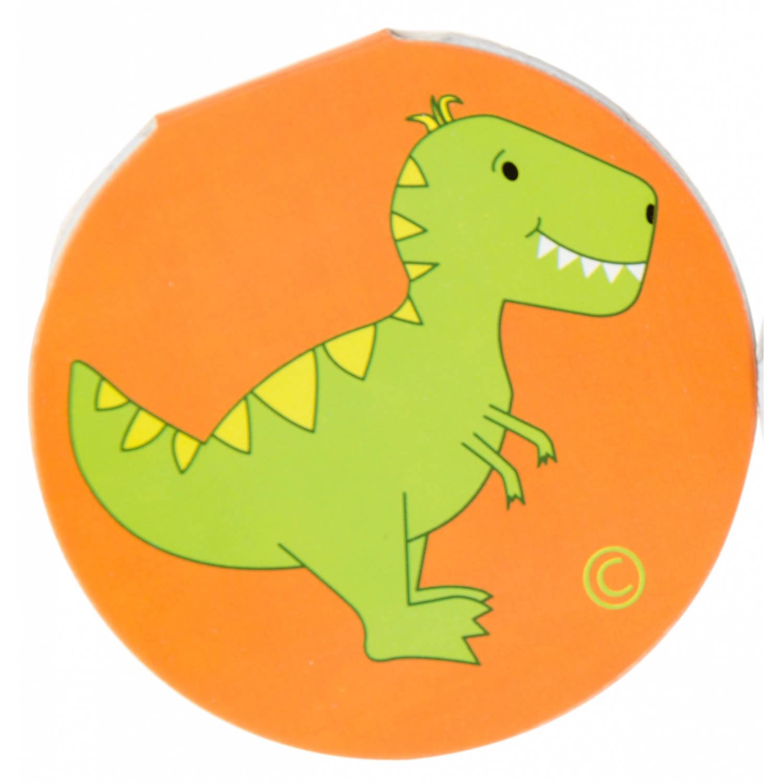 Korting Lg imports Notitieboekje Dino Junior 8 Cm Oranje groen