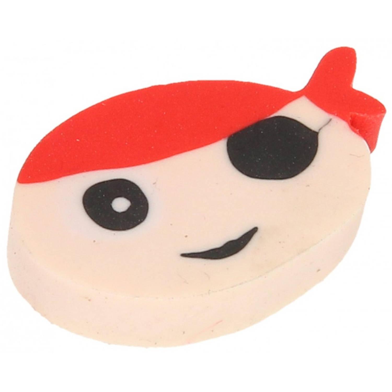 Korting Lg imports Gum Piraat Jongens 4 Cm Rubber Blank rood