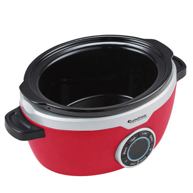 TurboTronic SC100 Slow Cooker - 3.5L - 190W - Rood