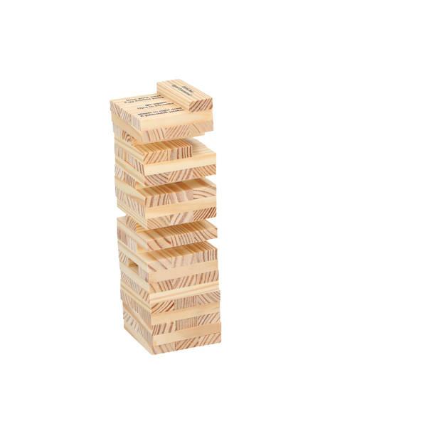 Lifetime Games drankspel - stapelspel met borrelglazen - jenga - 4 shotglazen - 60 bouwstenen