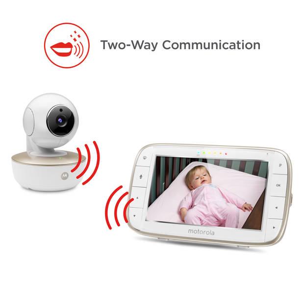 Motorola MBP855 Connect Babyfoon - Draadloos - Camera - Monitor waar je ook bent