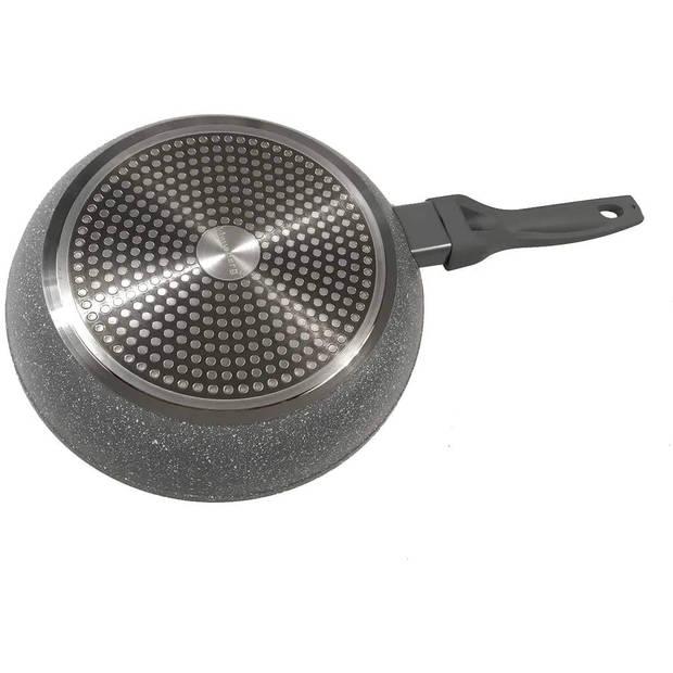 Klausberg 7312 - koekenpan met deksel - Ø16 cm - Marmer coating - Alle warmtebronnen