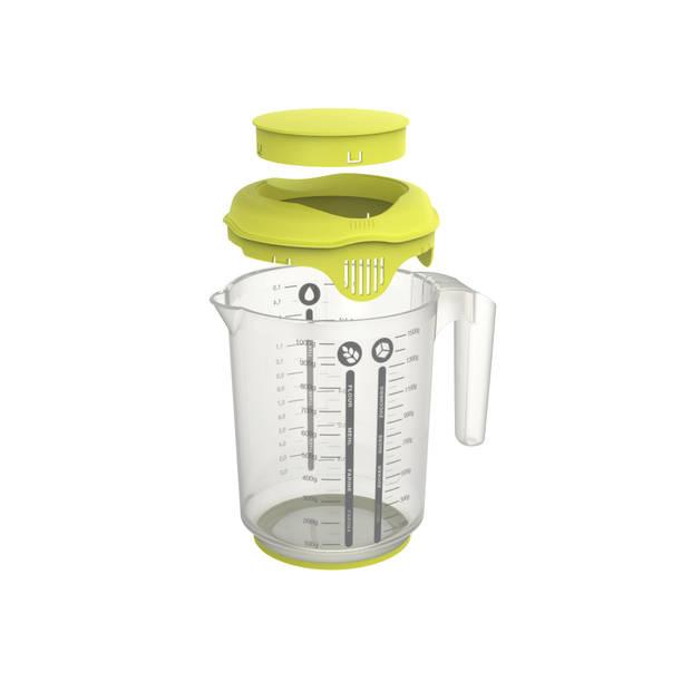 Rotho Fresh mixbeker met spatdeksel 1,25 liter