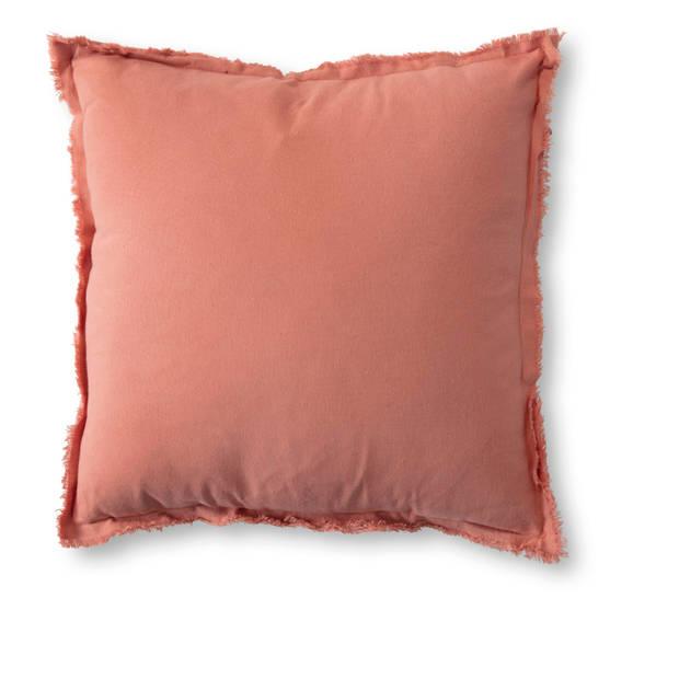 Blokker kussen Palermo - roze - 45x45 cm
