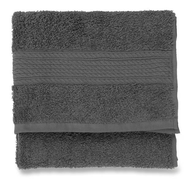 Blokker handdoek 500g - donkergrijs - 50x100 cm