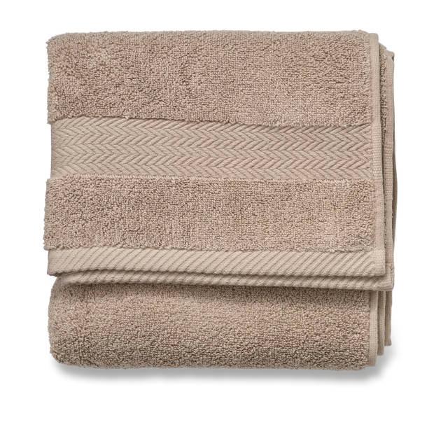 Blokker handdoek 600g - beige - 50x100 cm