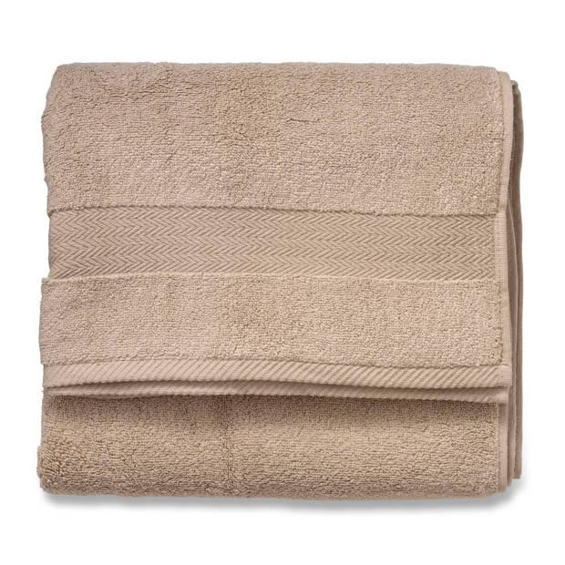 Blokker handdoek 600g - beige - 70x140 cm